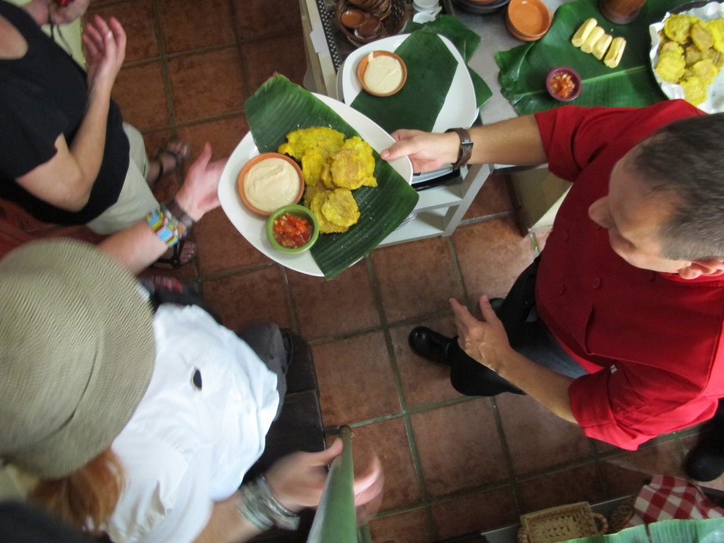 Backroads guests enjoying cuban food on People-to-People Educational Exchange