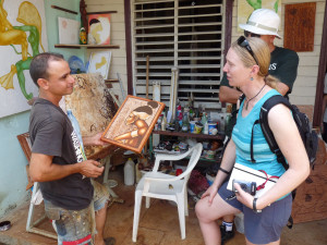 Backroads guests meeting with Cuban artists - People-to-People Educational Exchange
