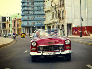 Colorful Cars in Havana, Cuba